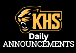 daily announcements from KHS