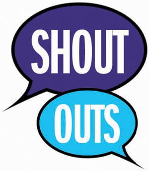 This week's Shout-Outs: