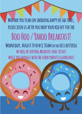 Kindergarten Boo Hoo Breakfast