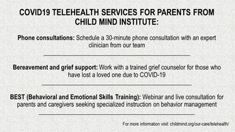 COVID-19 Telehealth Services for Parents
