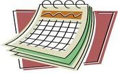 Calendar Update!
