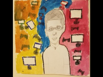 Fifth grade self portraits made in art