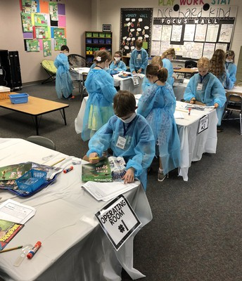 2nd Grade Surgeons Hard At Work