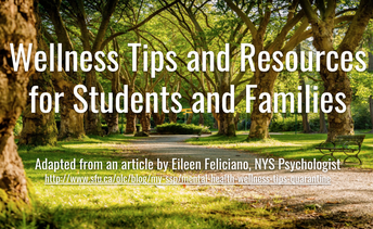 Wellness Tips and Resources for BSD Students and  Families