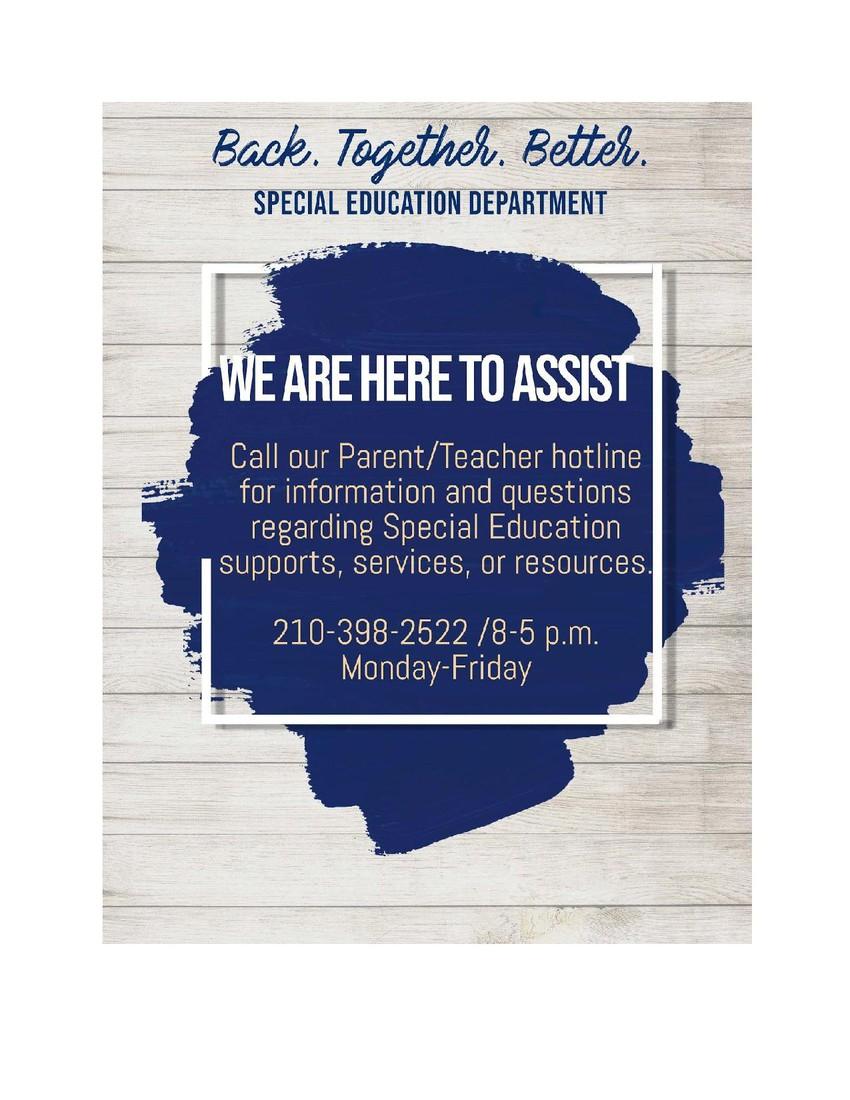NISD Special Education Hotline