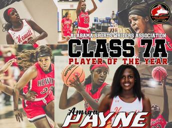 Collage of Payne playing basketball