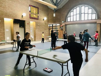 Our table tennis club has been a hit, ping-ponging away!