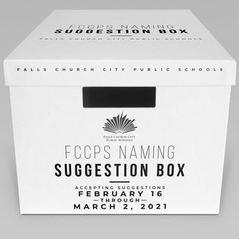 School Renaming Suggestion Box