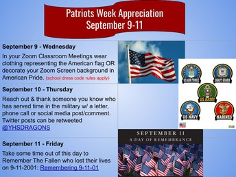 Yosemite High Celebrates Patriots Week