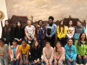 6th & 8th Grade art students traveled to the Columbia Museum of Art today. They saw the Van Gogh Exhibit and had the opportunity to create a landscape using Van Gogh's style as inspiration. They also saw many original Van Gogh pieces. #lmmsrocks