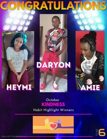 October Habit Highlight Winners