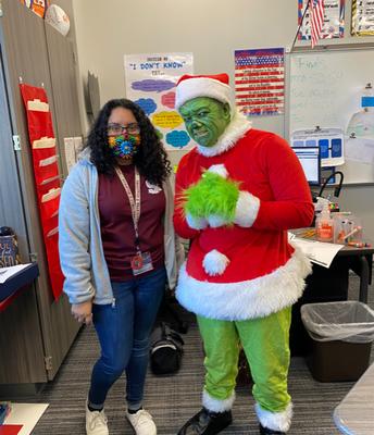 Ms. Dias & Santa