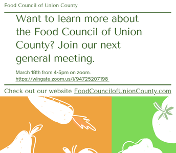 Creating the Union County Food Council