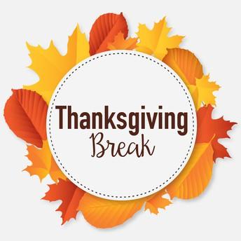 NO SCHOOL - Nov. 23rd-Nov. 30th