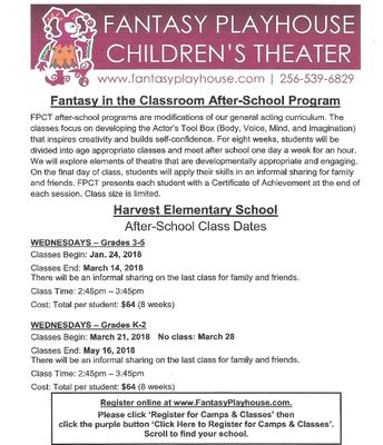 Theater Academy 3rd - 5th and K - 2nd Info