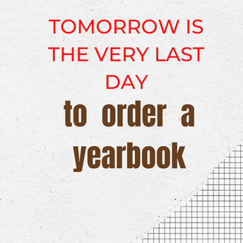 Last Opportunity You Will Have to Order a Yearbook for Your Child