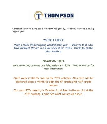 September PTO Newsletter