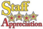 STAFF APPRECIATION - THANK YOU