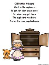 Nursery Rhyme: Old Mother Hubbard