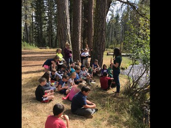 Ms. Crother's class enjoyed a day of learning stations at Last Chance Campground last Friday