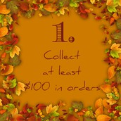 Collect at least $100 in orders