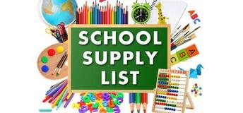 School Supply List for 2019-2020 School Year