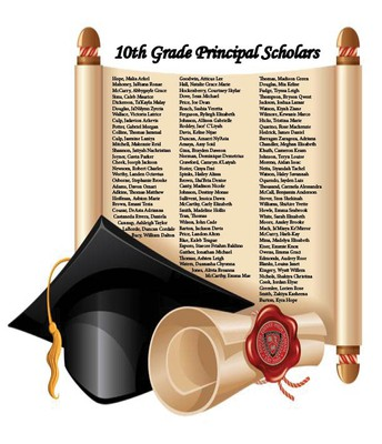 10th Grade Principal Scholar Students