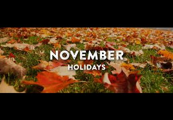 November Holidays and Closures