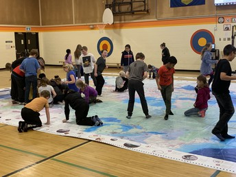 INDIGENOUS PEOPLES ATLAS OF CANADA MAP IN GYM
