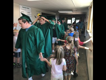 CES students lined the hallways to congratulate our graduating seniors!