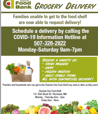 Channel One Food Bank Grocery Delivery