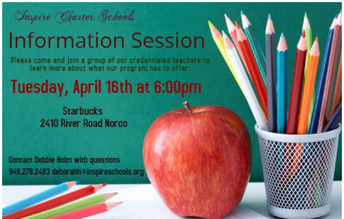Info Session in NORCO!