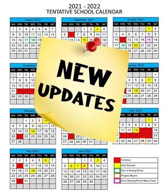 2021-2022 Tentative Calendar