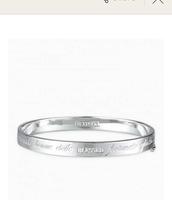 """Inspire - """"Blessed"""" silver bracelet"""