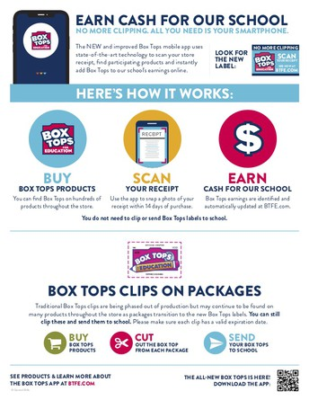Box Tops Due Monday, Oct 28th