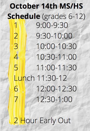 MEA Schedule Update