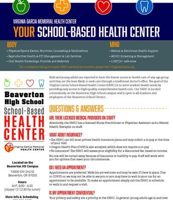 Beaverton SBHC Info Sheet