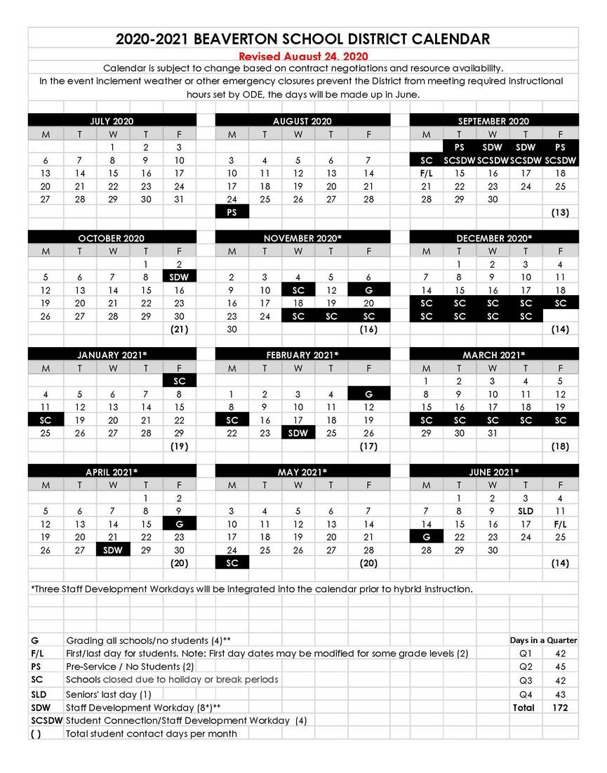 2020-2021 BSD Calendar