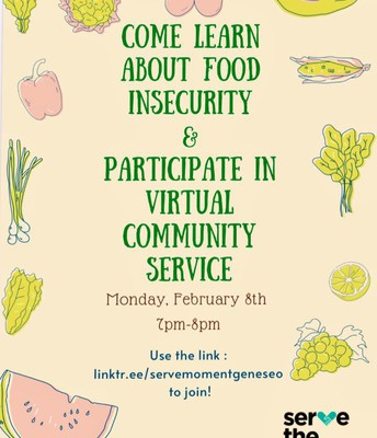 Food Insecurity & Virtual Community Service