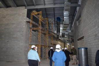 Ductwork visible in the Hallways