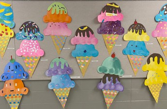 1st Grade Giant Woven Ice Cream Cones