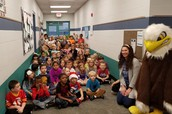Kindergarten Students SING the School Song for Announcements!