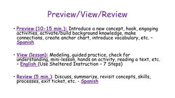 Preview-View-Review
