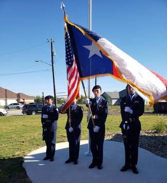AFJROTC Presents at Home for Troops Event