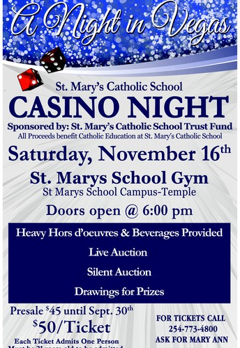 St. Mary's Catholic School CASINO NIGHT November 16th