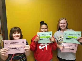 PE Students of the Month!