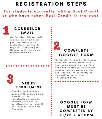 Steps for students returning to Dual Credit
