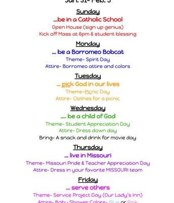 Catholic Schools week Update
