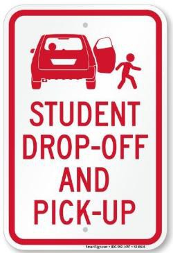 Student pick up and drop off information