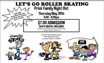 Prisk Skate Night: May 30th!